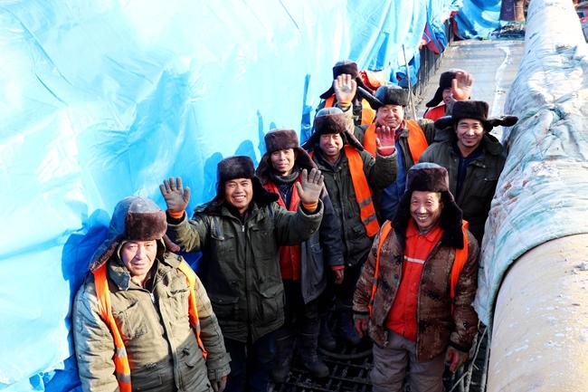 中铁十四局集团长春地铁2号线西延线汽捷区间盾构接收井顺利封顶