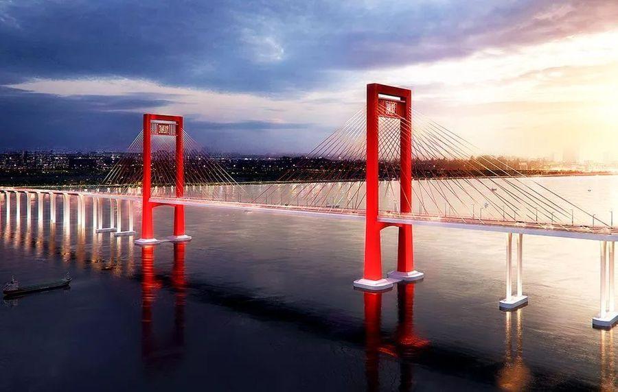 由中铁大桥局承建的广东省湛江市调顺跨海大桥东岸主塔墩承台建成