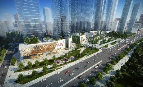 深圳罗湖区京基水贝村城市更新项目3#地块转换层金洋2牌混凝土浇筑首战告捷