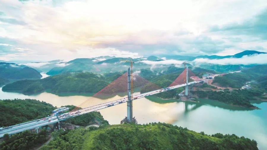 枫树坝特大桥主梁标准段混凝土浇筑完成,助力河惠莞高速年底通车