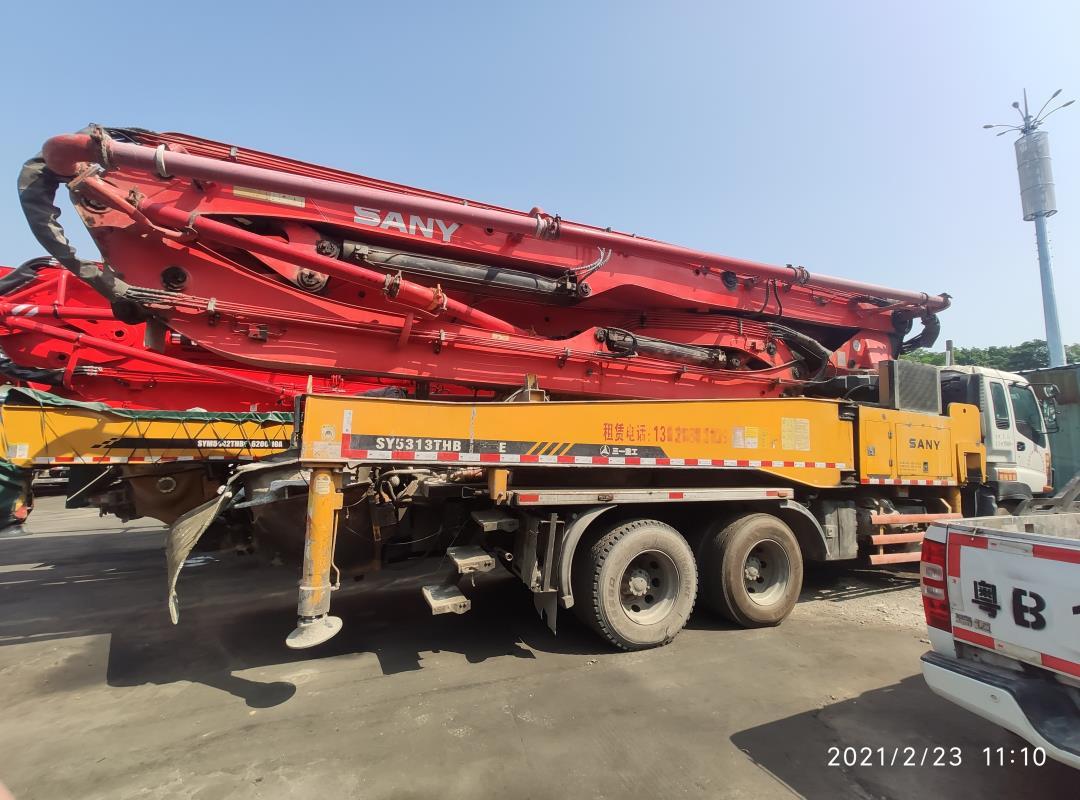 深圳2011年底46米三一重工混凝土泵車,五十鈴底盤