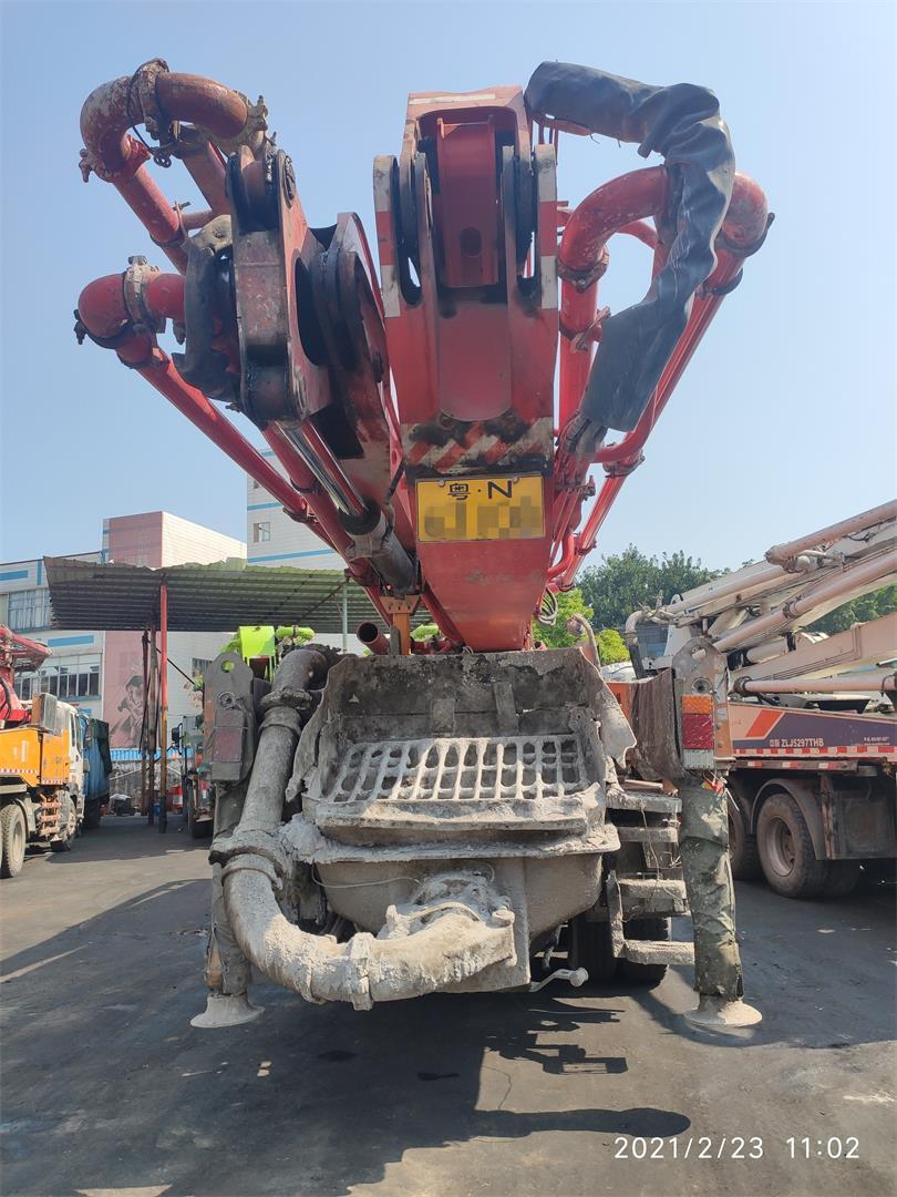 深圳2012年底46米三一重工混凝土泵車,五十鈴底盤