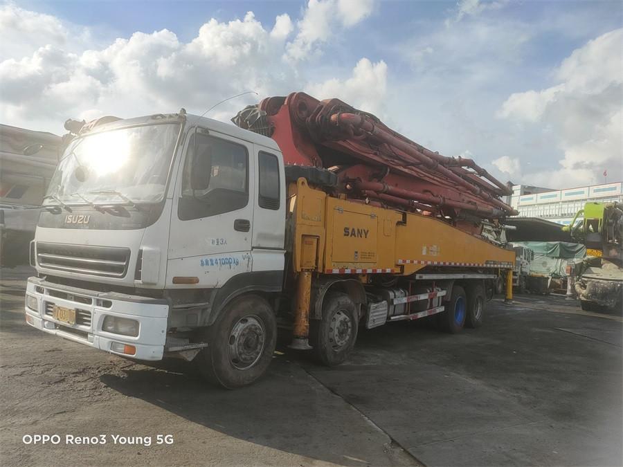 深圳2012年52米三一重工泵車,自用一手车,五十铃底盘