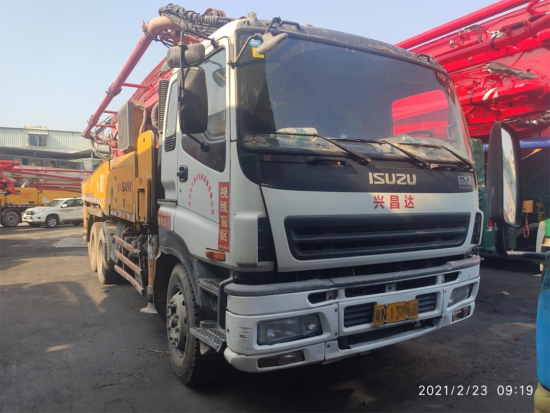 深圳2010年底43米三一重工混凝土泵車,五十鈴底盤