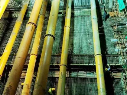 長沙地鐵6號線二標一項目和馨園站第六倉底板用48米天泵巧破澆築難題